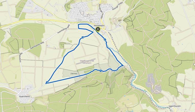 Strecke 9,5 km